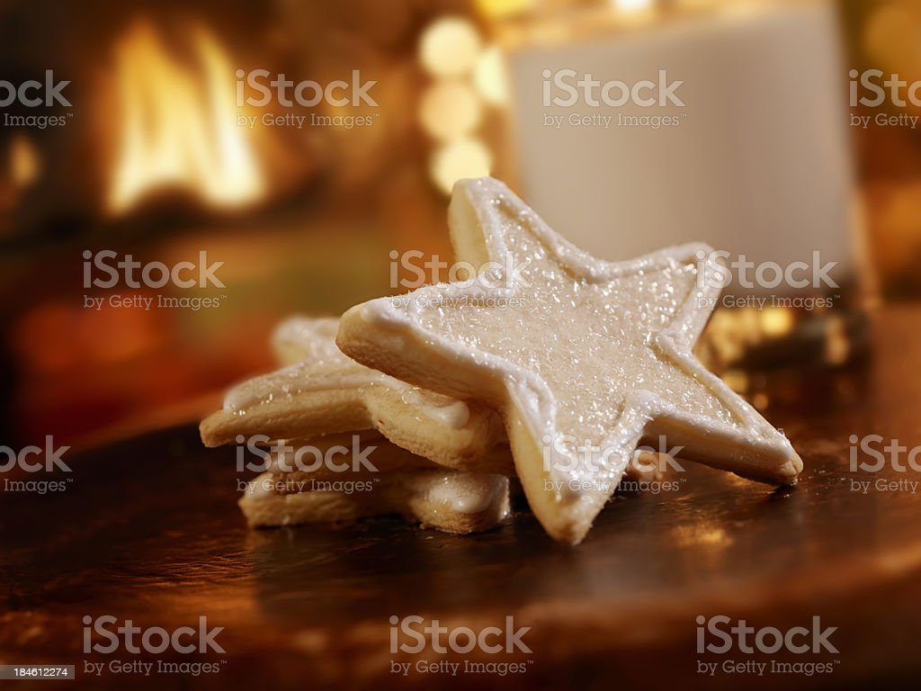 Sugar Cookies and Milk for Santa royalty-free stock photo