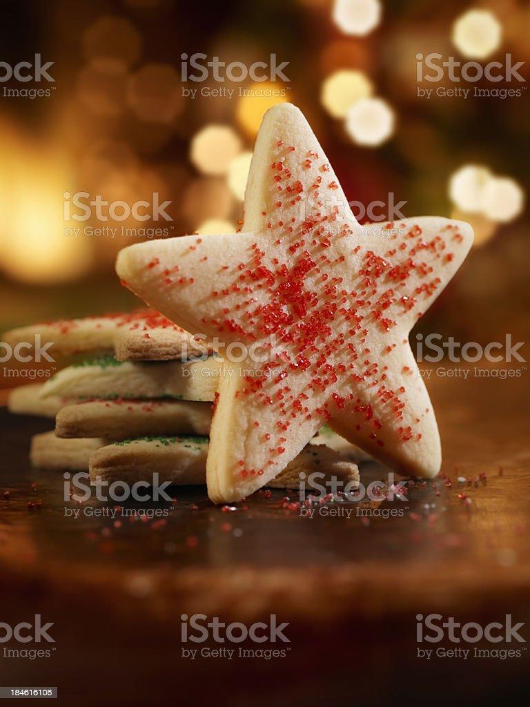 Sugar Cookies at Christmas Time royalty-free stock photo