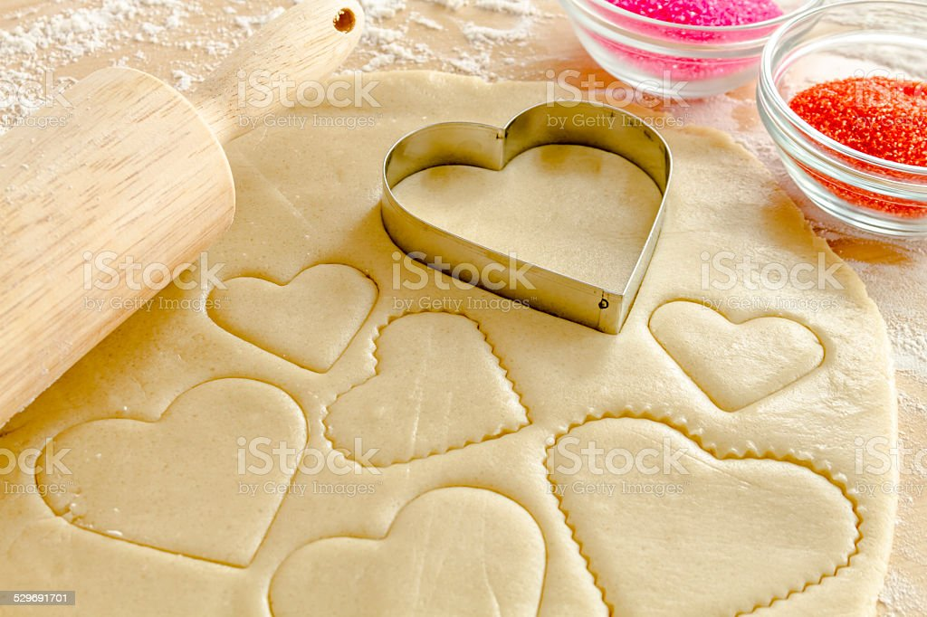 Sugar Cookies Ingredients and Cutters stock photo