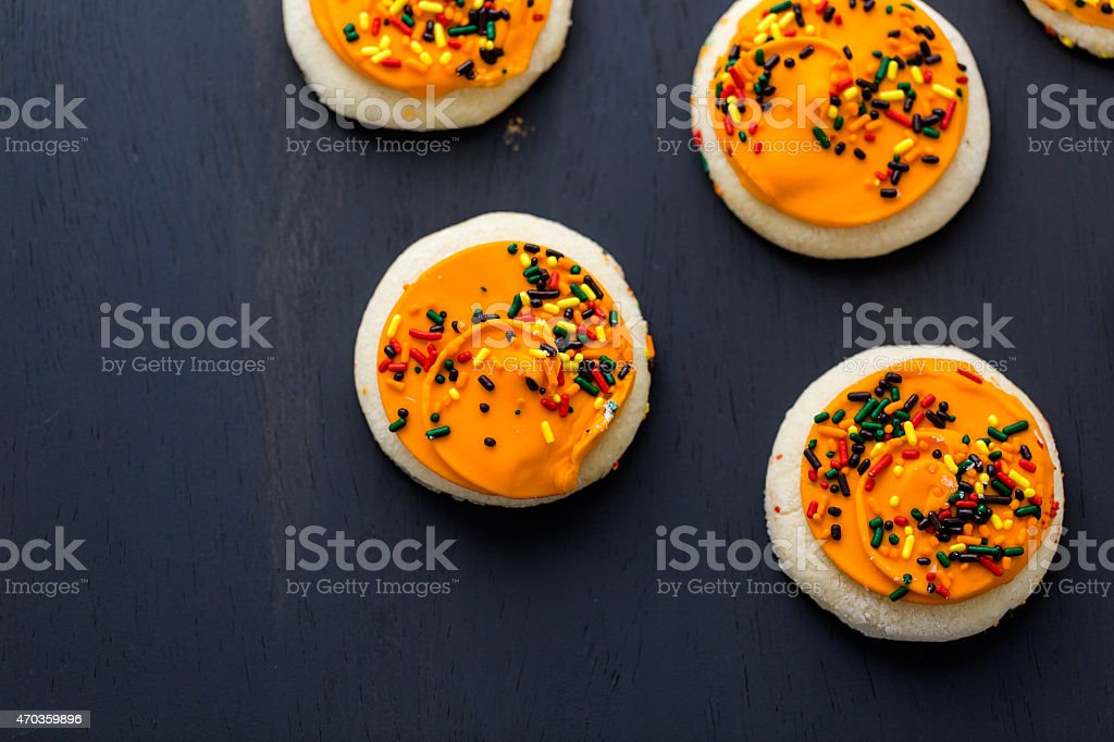 Sugar cookies stock photo