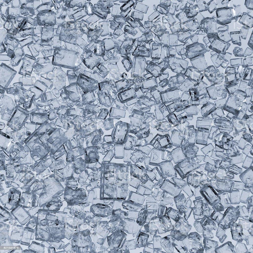 sugar crystals closeup stock photo