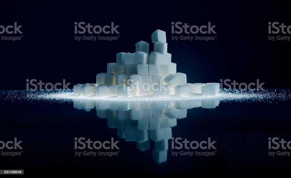 Sugar Cube Reflection stock photo