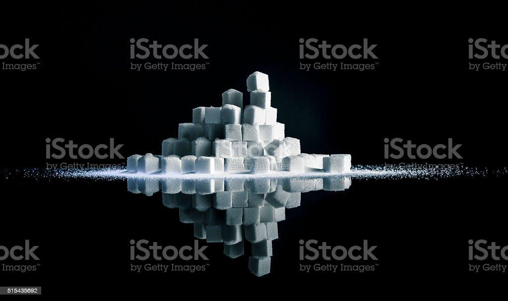 Sugar Cube Stack stock photo