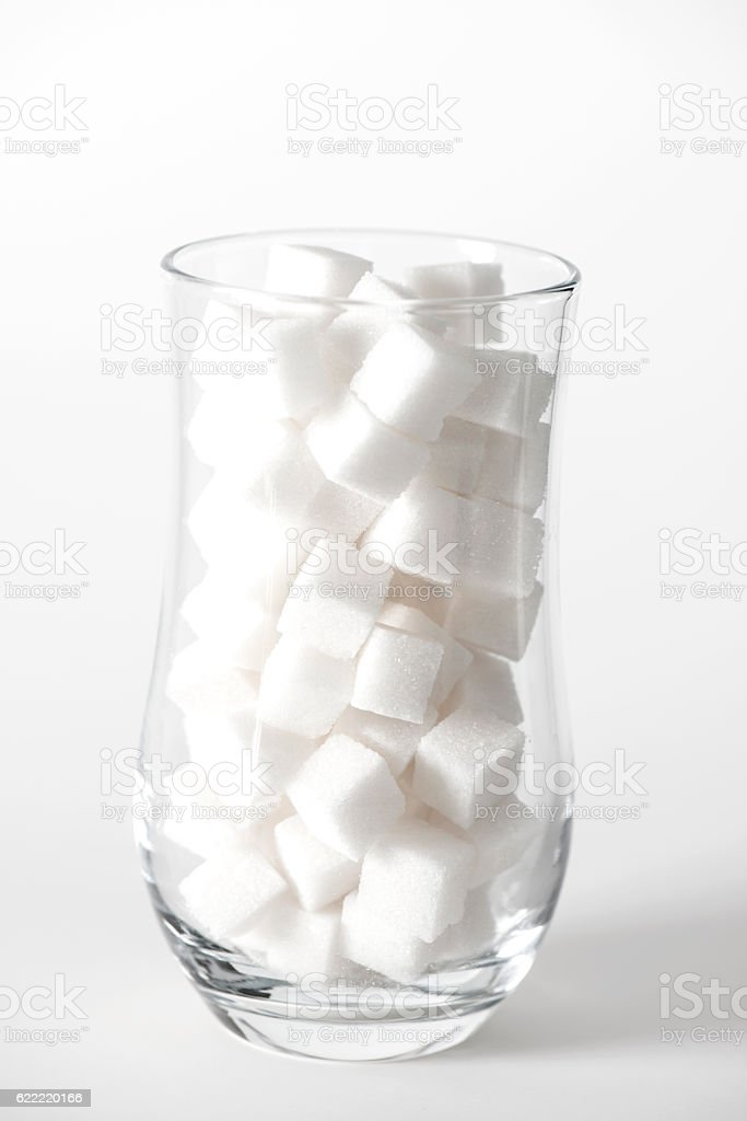 Sugar Cubes in Glass stock photo