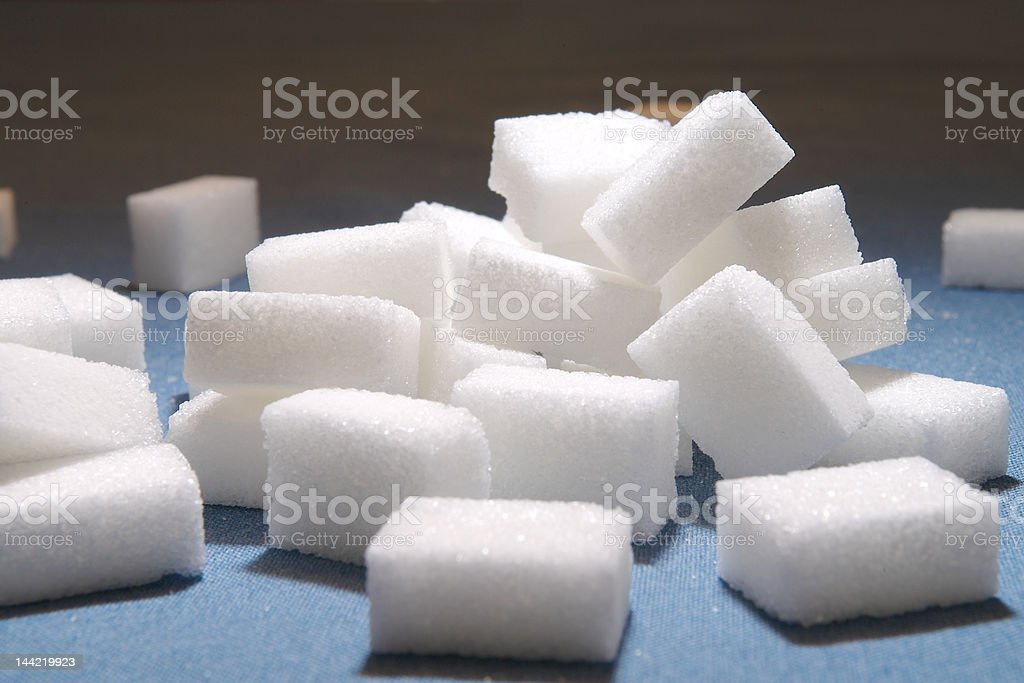 sugar cubes royalty-free stock photo