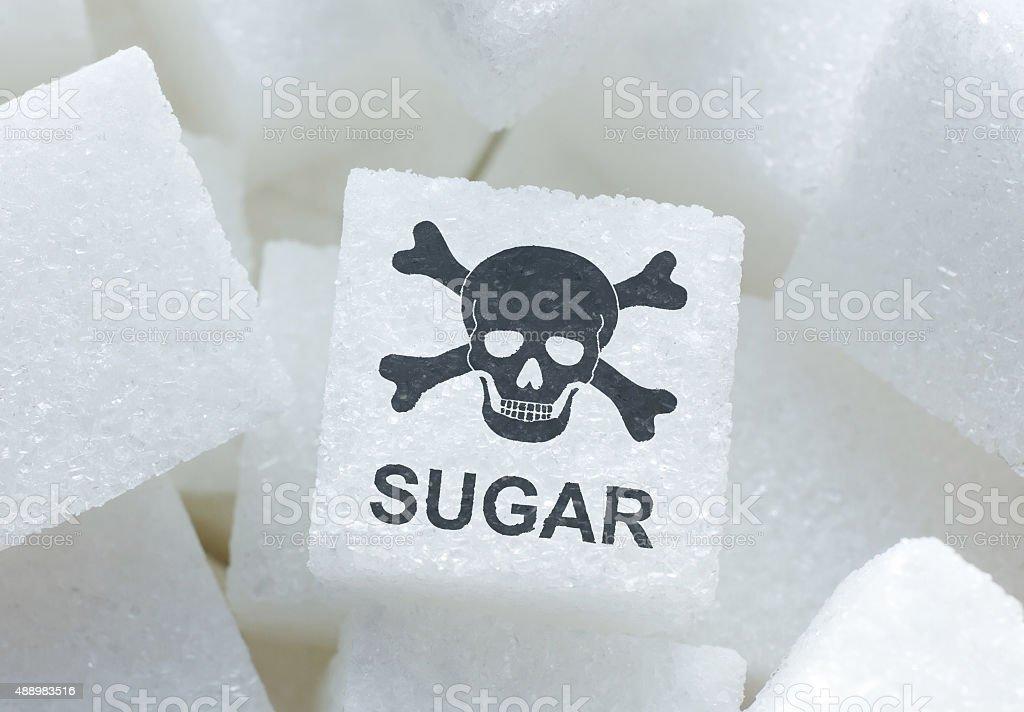 Sugar cubes stock photo