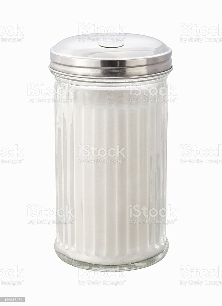 Sugar Dispenser isolated with a clipping path stock photo