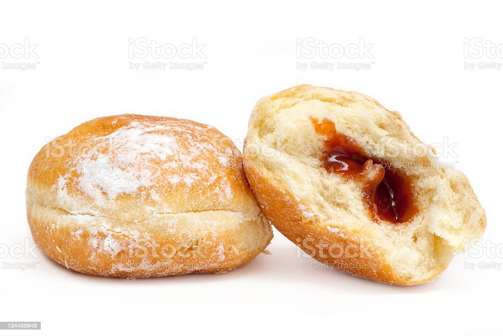 Sugar donuts isolated on a white background royalty-free stock photo