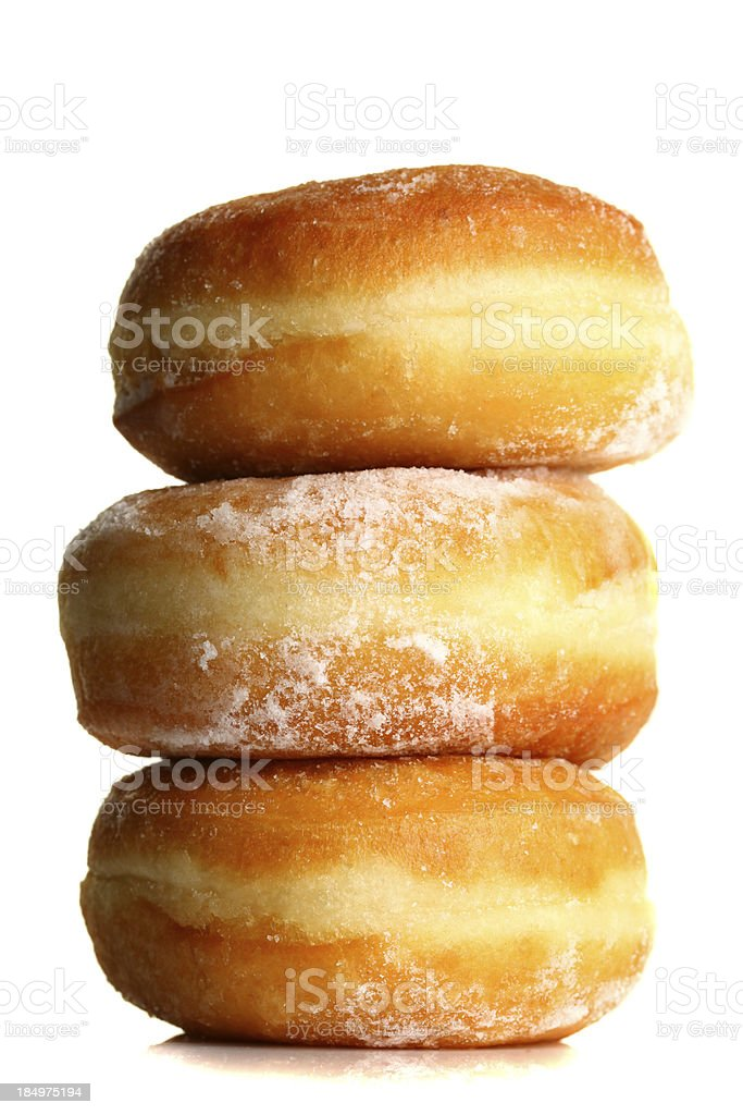 Sugar donuts royalty-free stock photo