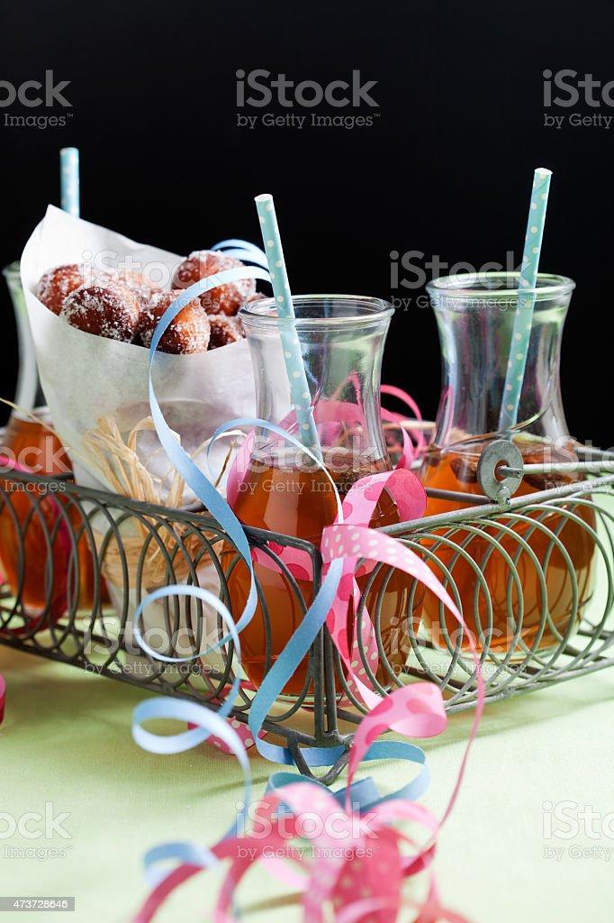 Sugar donuts stock photo