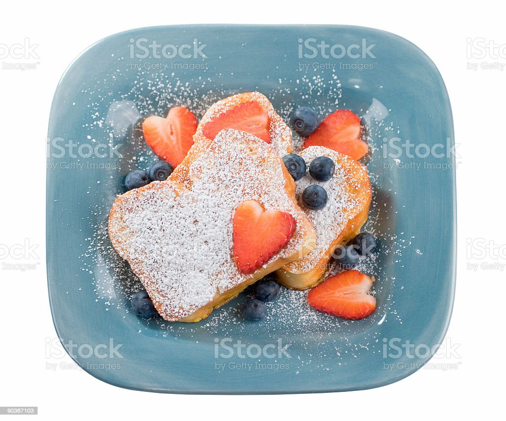 Sugar Dusted French Toast royalty-free stock photo