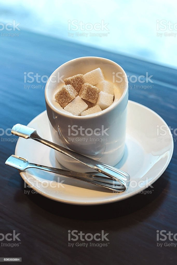 sugar for coffee stock photo