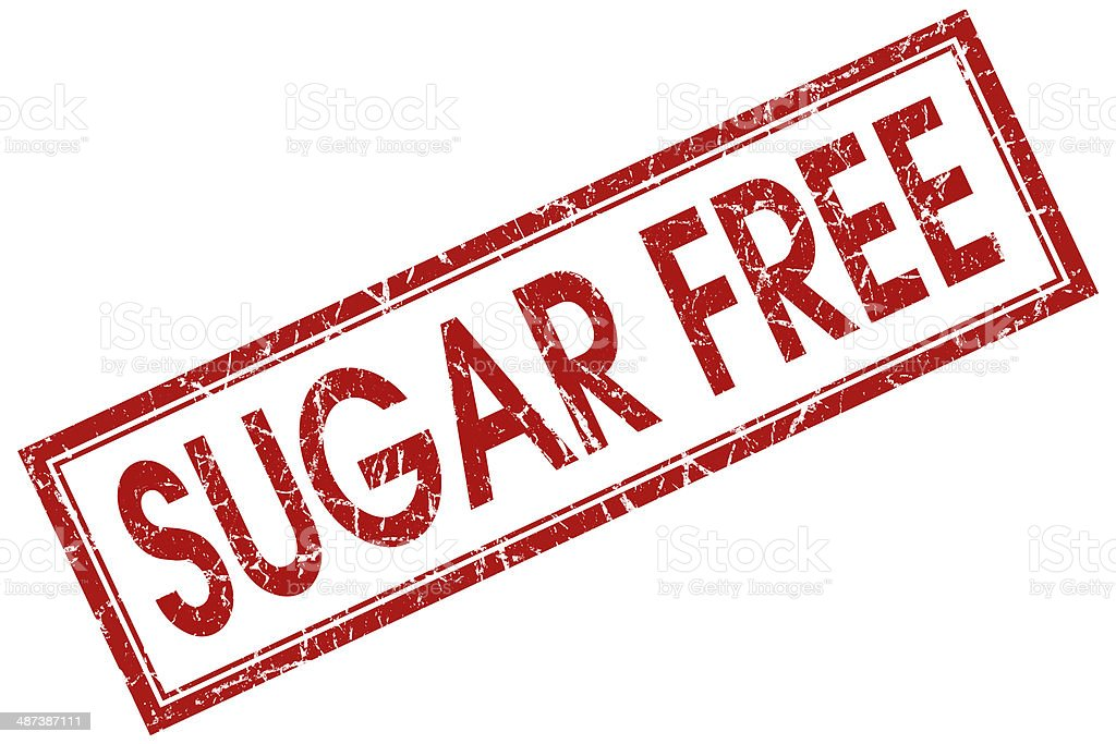 sugar free red square stamp stock photo
