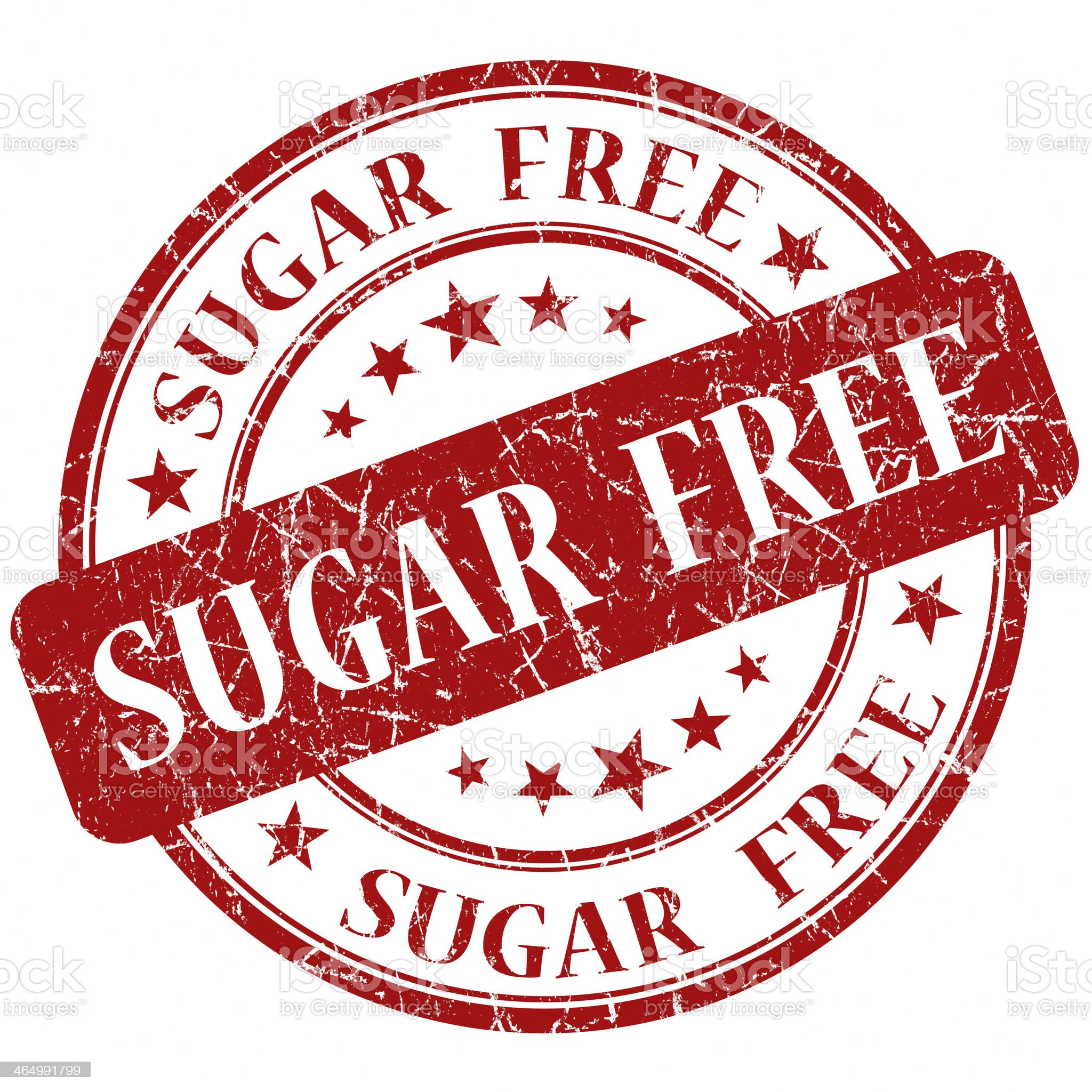 Sugar Free red stamp royalty-free stock vector art