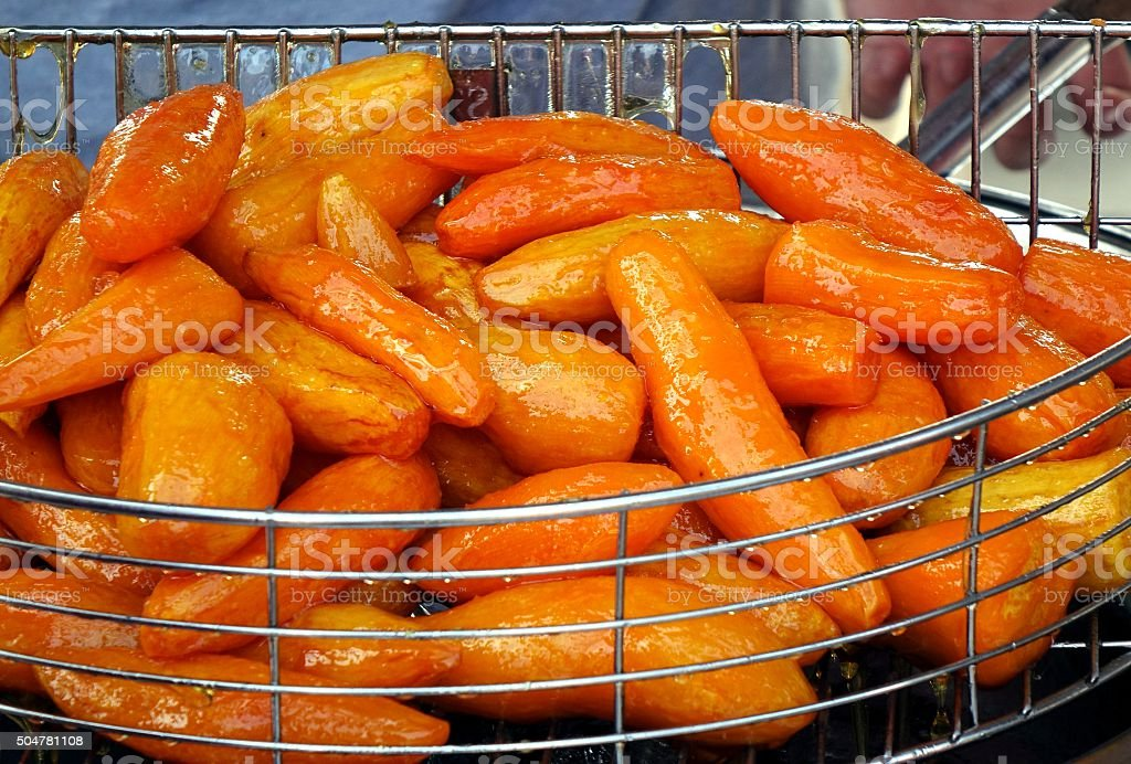 Sugar Glazed Sweet Potatoes stock photo