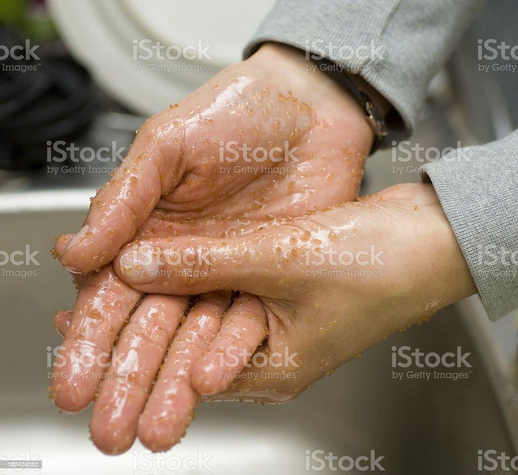 sugar hand peeling royalty-free stock photo