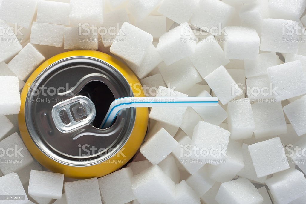 Sugar in food stock photo