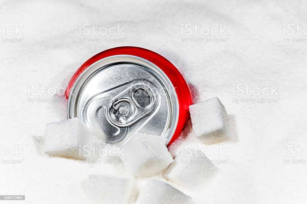 Sugar in soft drinks stock photo