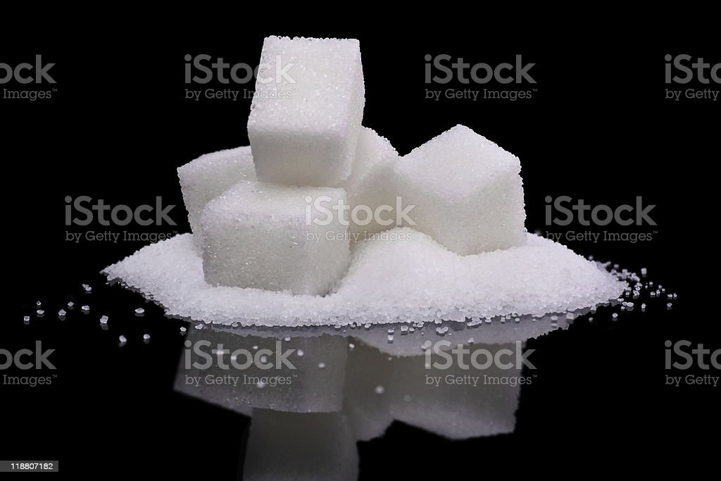 sugar indulgence stock photo
