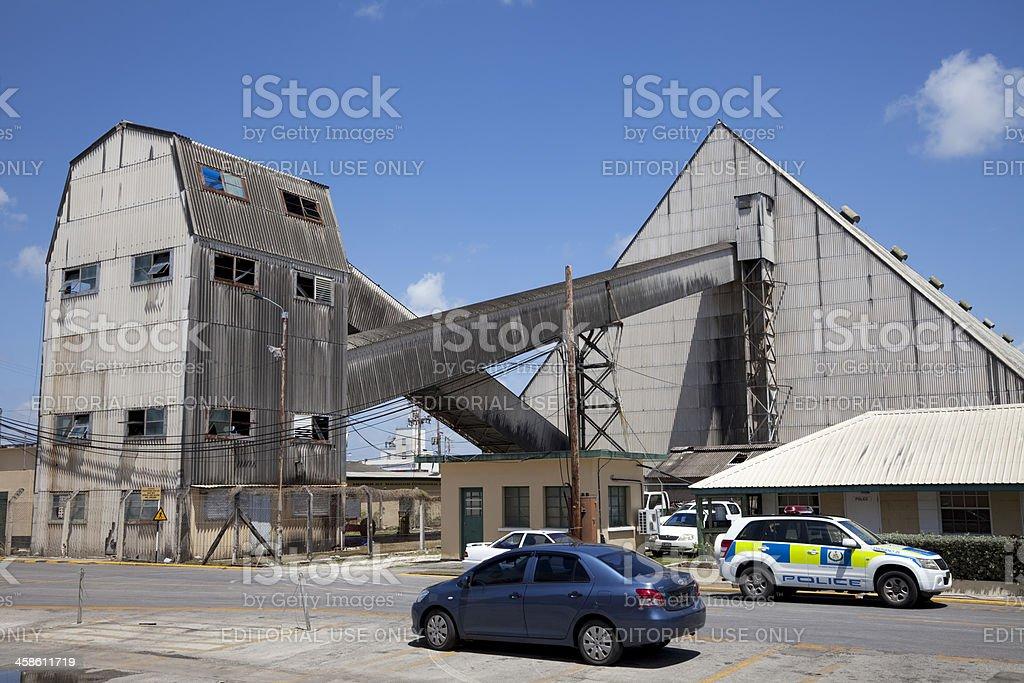 Sugar industry warehouses, Bridgetown, Barbados royalty-free stock photo