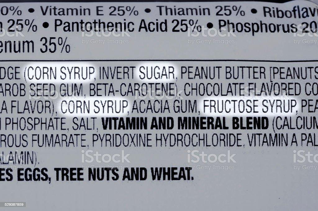 Sugar ingredients stock photo