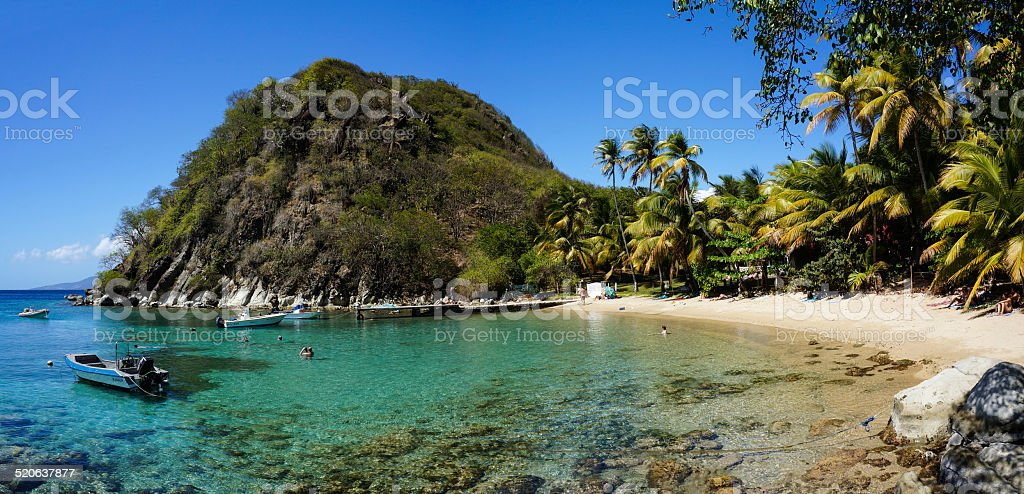 Plage du Pain de Sucre in Les Saintes, Guadeloupe, stock photo