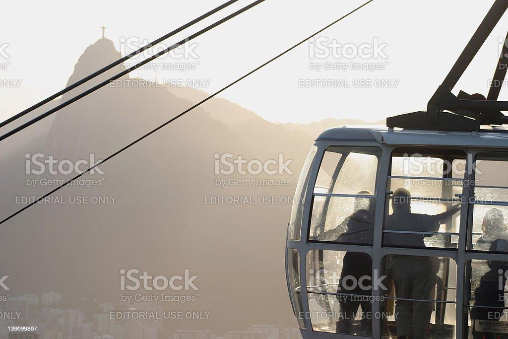 Sugar loaf gondola royalty-free stock photo