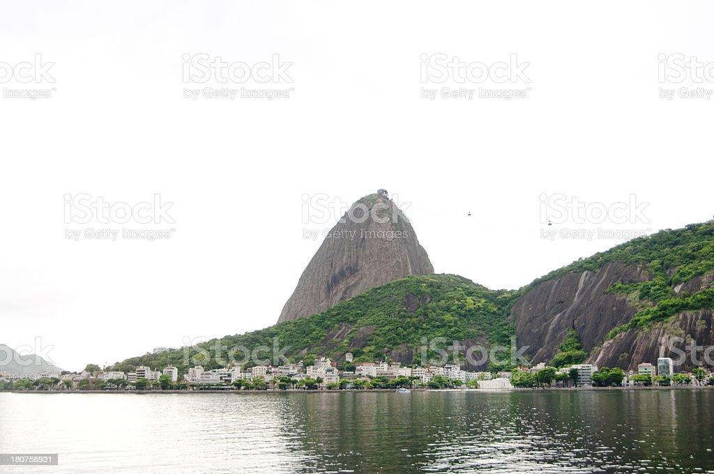 Sugar Loaf Mountain from Guanabara Bay, Rio, Brazil. royalty-free stock photo