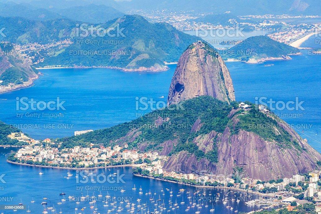 Sugar Loaf Mountain in Rio de Janeiro, Brazil stock photo