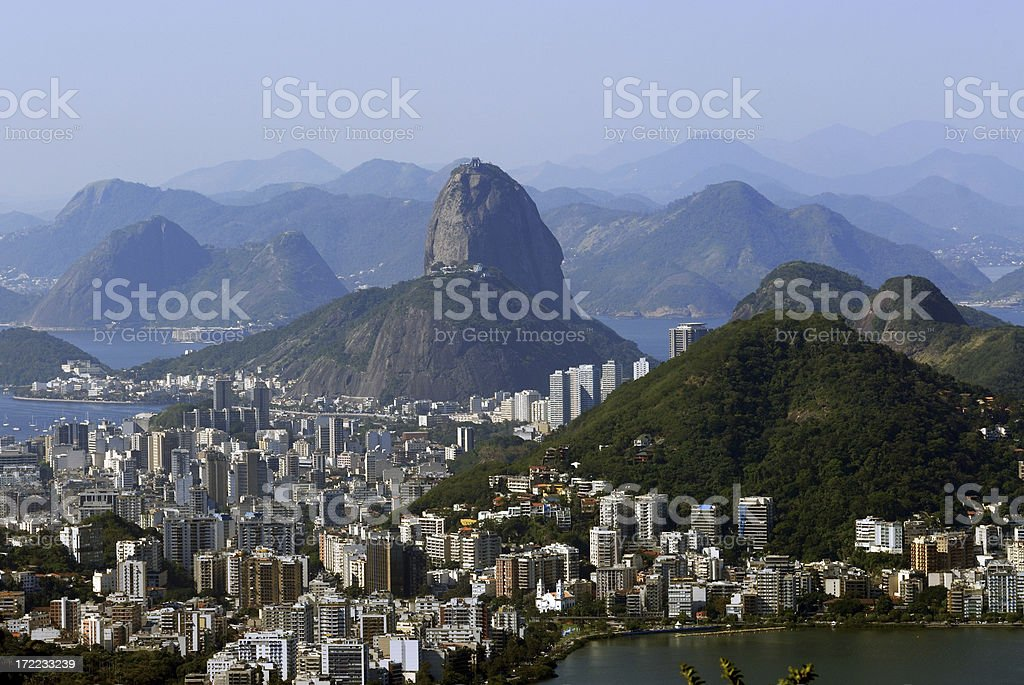 Sugar Loaf Mountain royalty-free stock photo