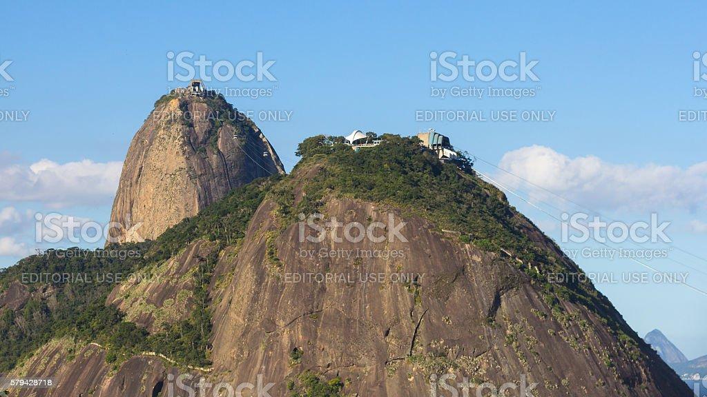 Sugar Loaf Mountain, tourist attraction of Rio de Janeiro stock photo