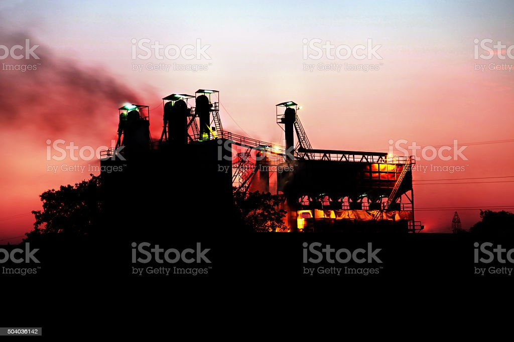 Sugar mill Industry stock photo