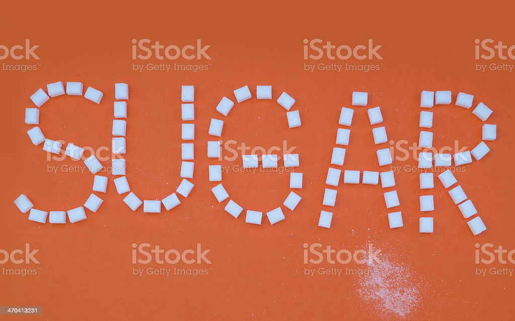 Sugar on orange royalty-free stock photo