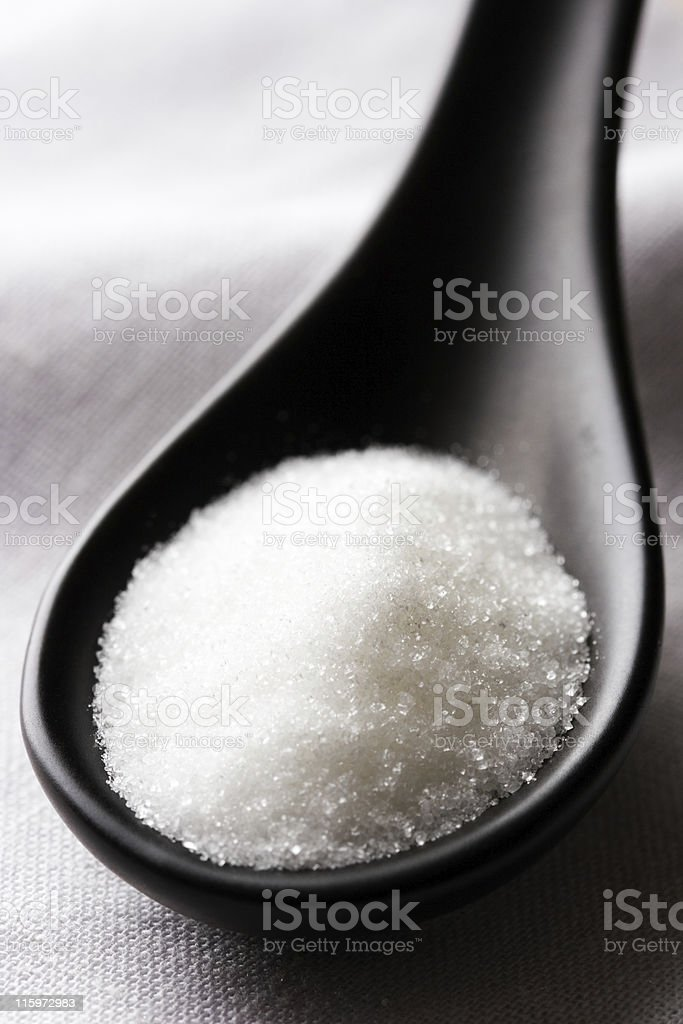Sugar or salt. stock photo