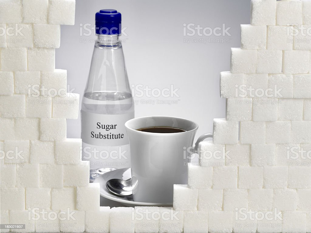 Sugar or sweetener. stock photo