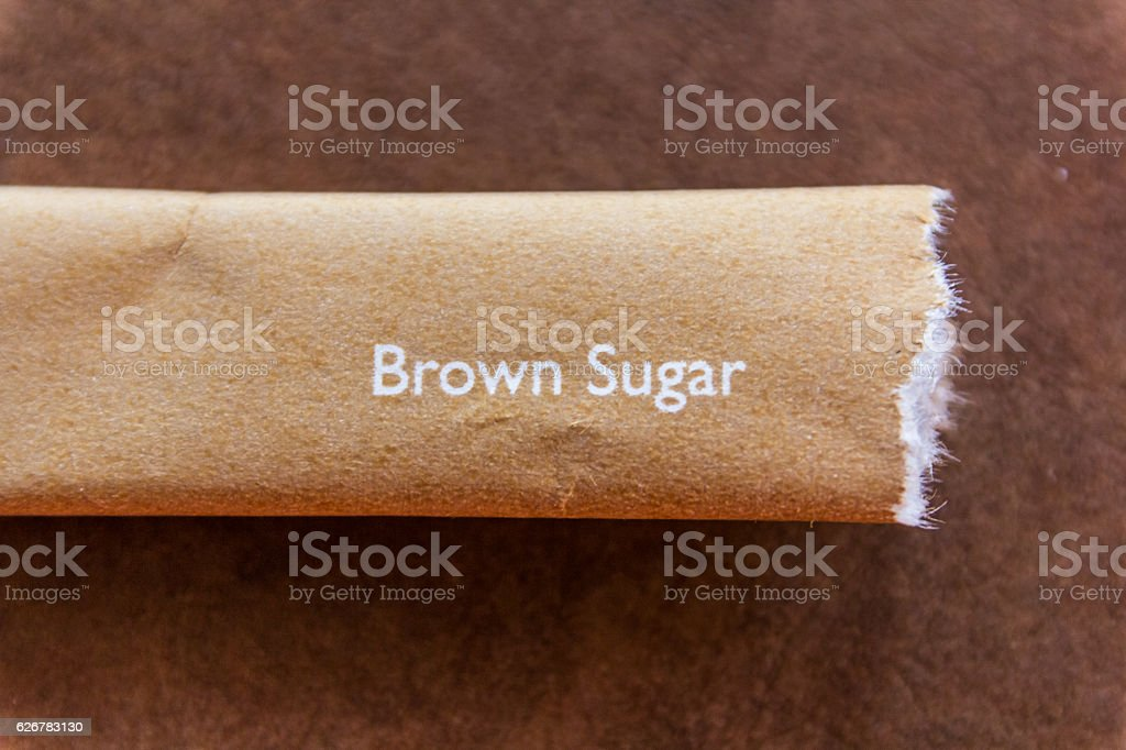 sugar packets stock photo