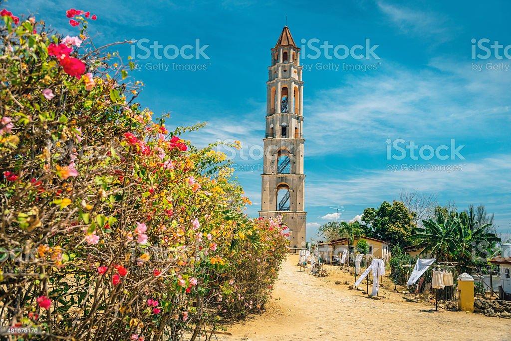 Sugar Plantation Slave Watchtower in Cuba stock photo