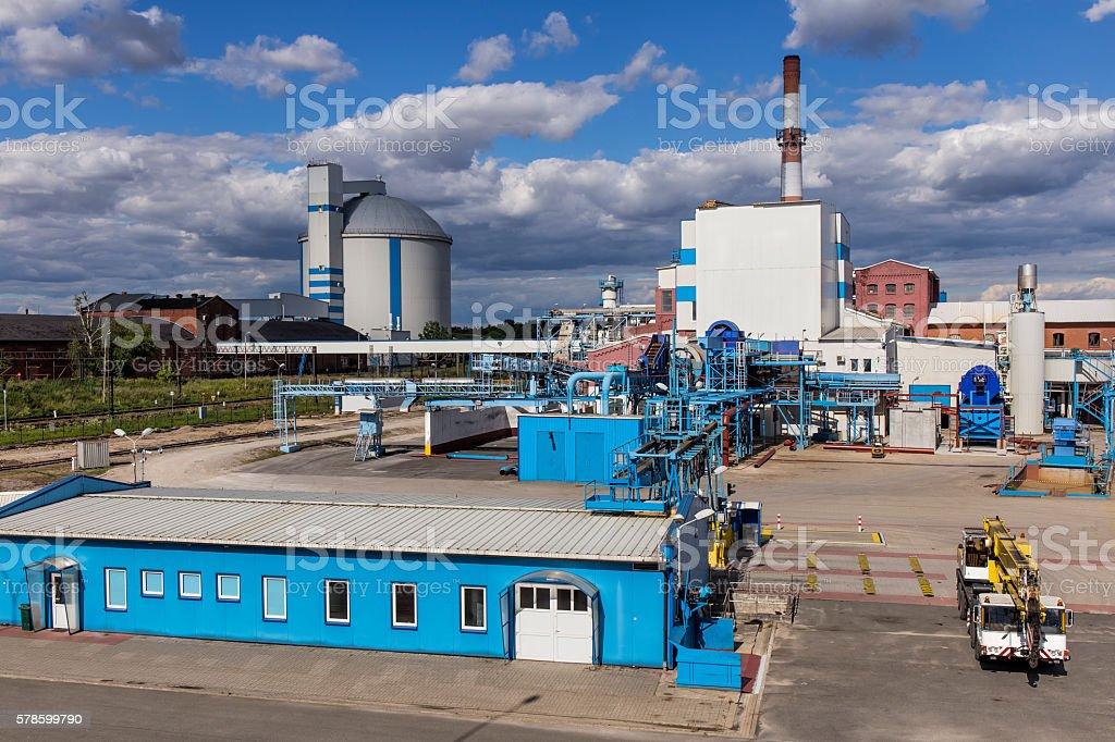 Sugar refinery in Nakło, Poland stock photo