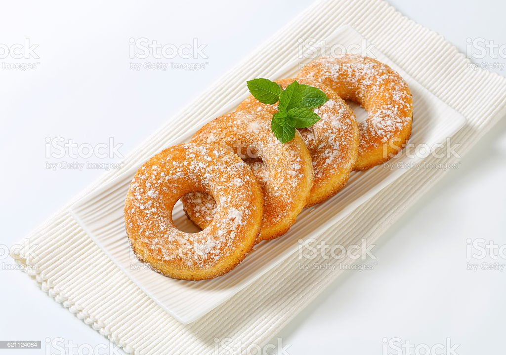 Sugar ring donut stock photo
