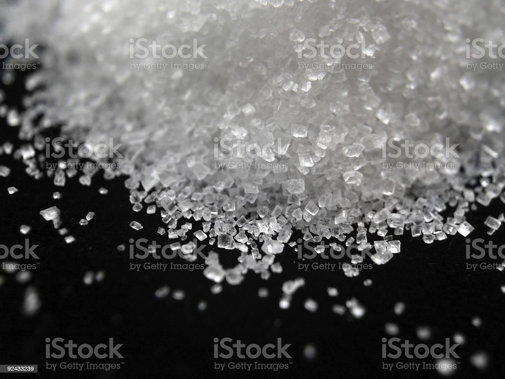 Sugar - Salt Spill royalty-free stock photo