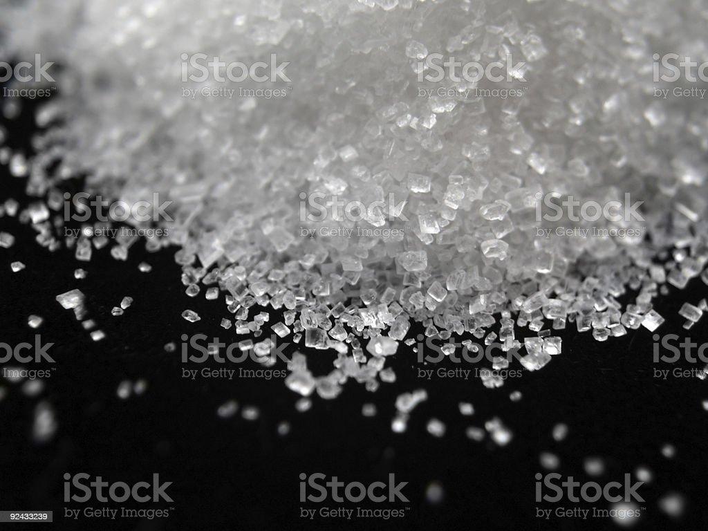 Sugar - Salt Spill stock photo