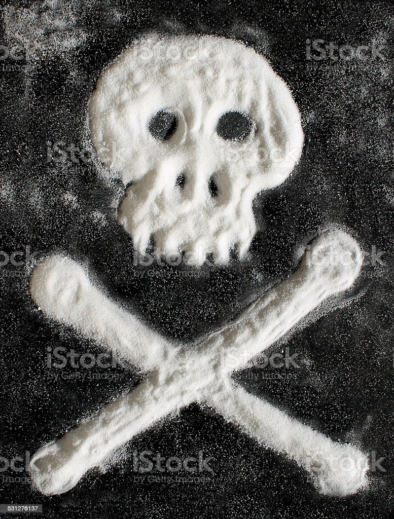 Sugar scull with crossbones stock photo