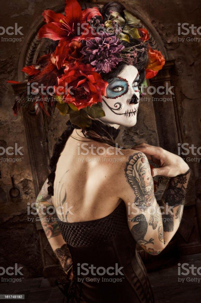 Sugar Skull Beauty stock photo