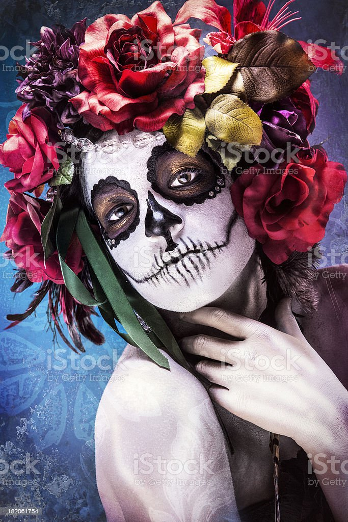 Sugar Skull Beauty stock photo