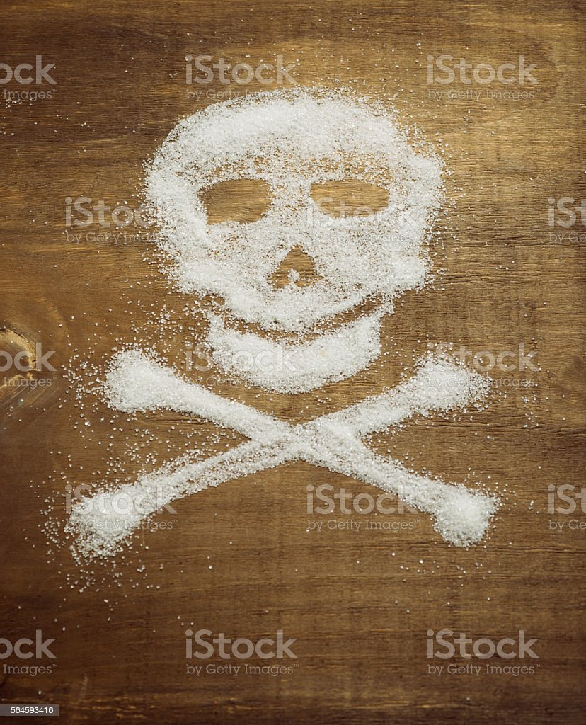 Sugar skull. Unhealthy concept stock photo