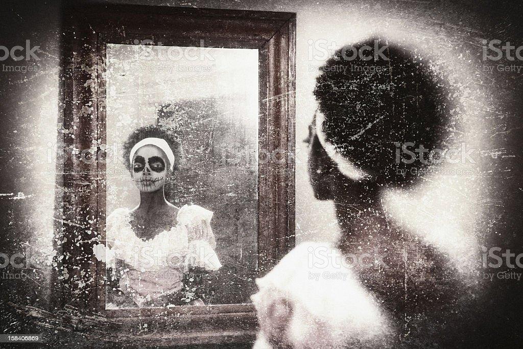 Sugar Skull Woman royalty-free stock photo