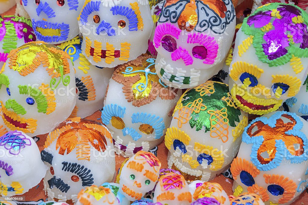 Sugar Skulls for the Day of the Dead stock photo