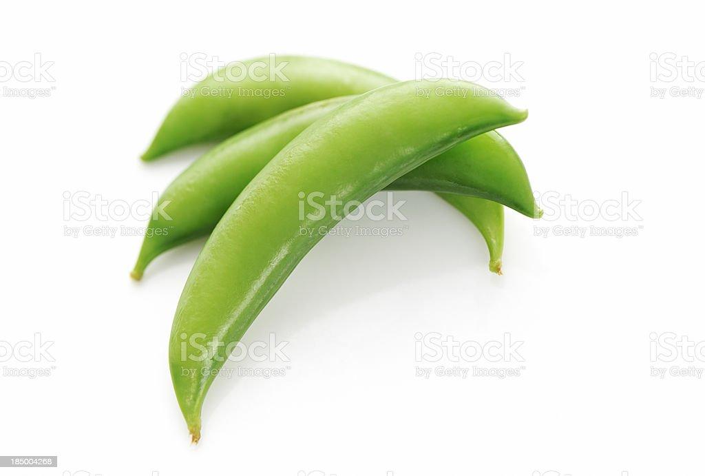 Sugar snap green peas stock photo