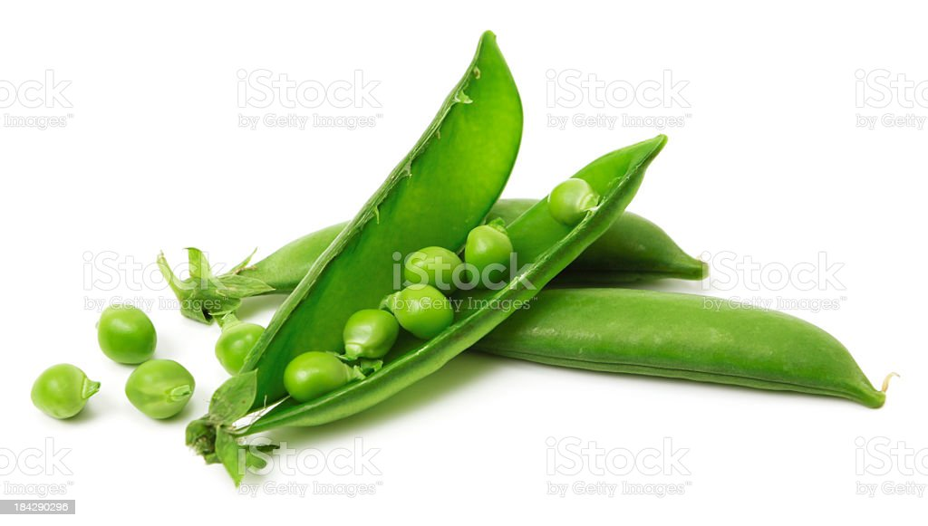 Sugar snap peas stock photo