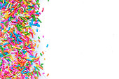 Sugar sprinkle dots, decoration for cake and bekery